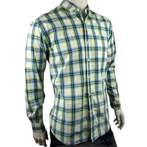 Cutter & Buck Plaid Silk Blend Casual Shirt Size L